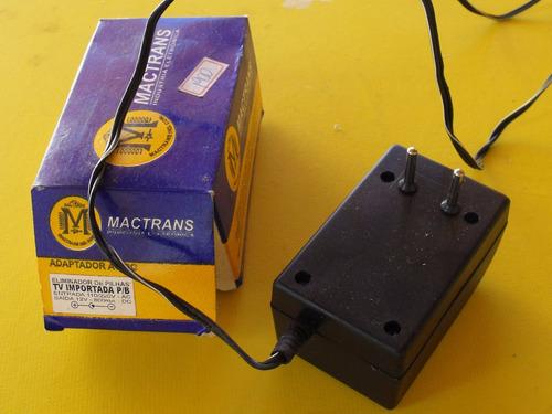 adaptador ac/dc.entrada 110/220v e saida 12v 800 ma