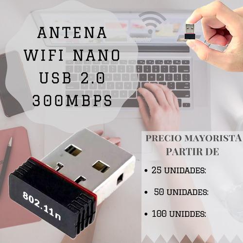 adaptador antena usb placa wifi nano mini 300mbps 2.4ghz