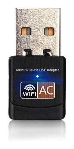 adaptador antena usb wifi dual doble banda 2,4/5ghz 600mbs
