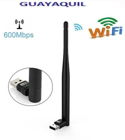 Adaptador Antena Wifi Usb Portatil , Pc,laptops, Mac, Linux