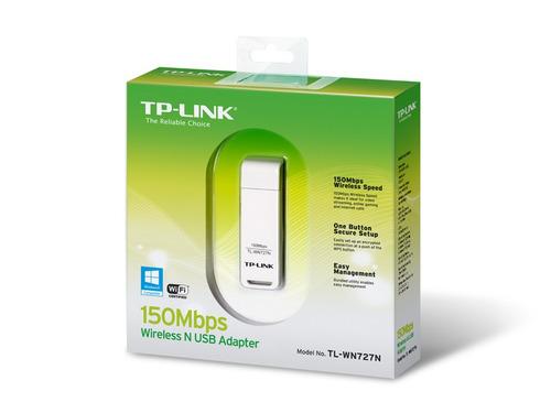 adaptador antena wifi usb tl-wn727n tp link 150mbps pc lap
