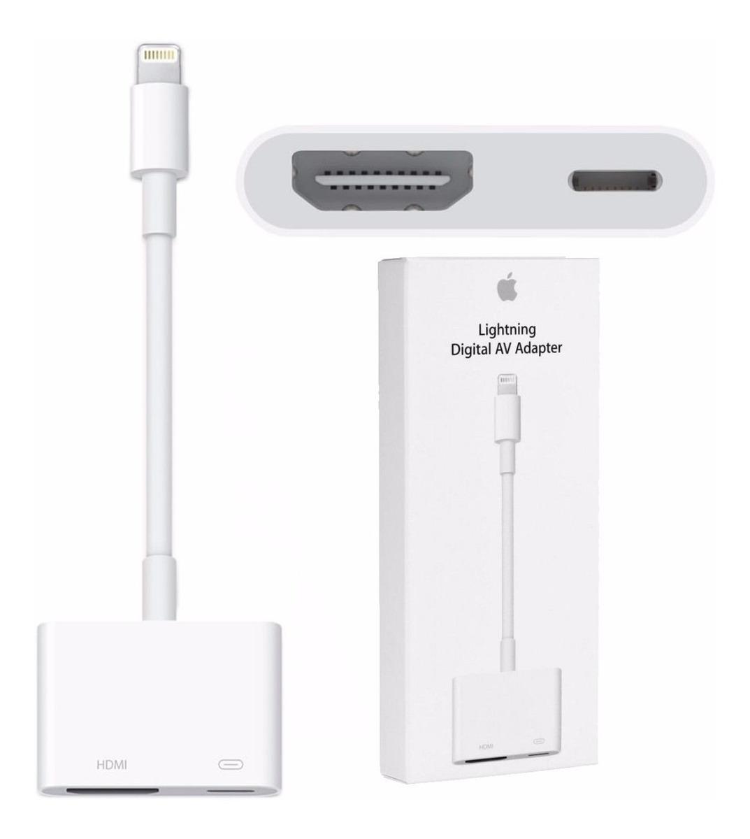 194cb5c54a0 adaptador apple lightning av digital hdmi iphone 7 8 x ipad. Carregando zoom .