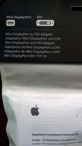 adaptador apple mini displayport a dvi original