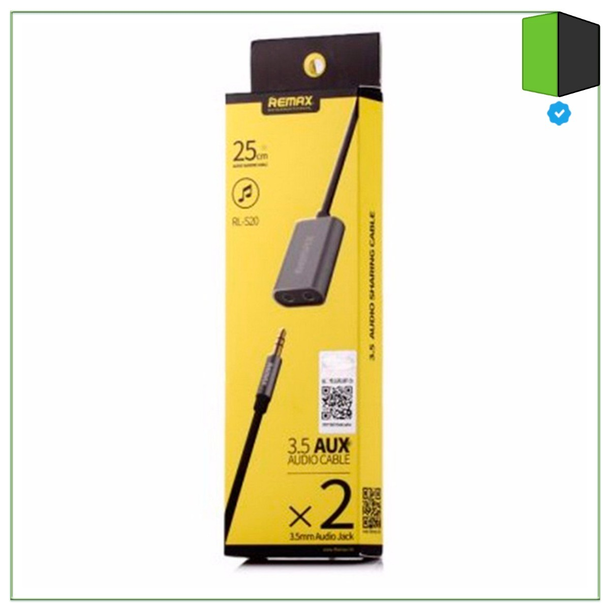 Adaptador Audio 35 Mm Miniplug Remax Rl 205 Doble Stereo 34999 Aux Cable 20s Cargando Zoom