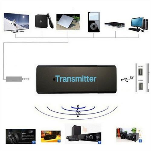 adaptador audio estereo transmisor bluetooh tv auriculares