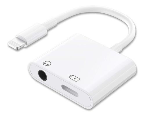 adaptador auricular audifonos cargador iphone 7 jack 3.5 mm