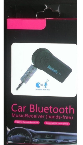 adaptador auxiliar - receptor de audio bluetooth recargable