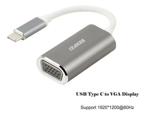 adaptador - benfei - usb-c a vga - res. 1920x1200 ideal mac