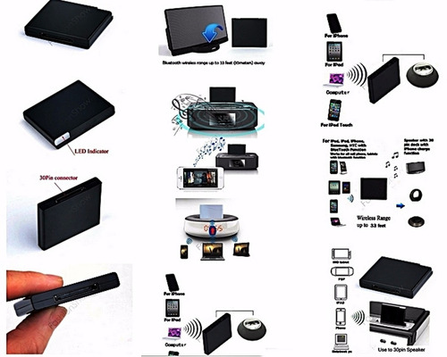 adaptador bluetooth para dock 30 pines iphone - ipod