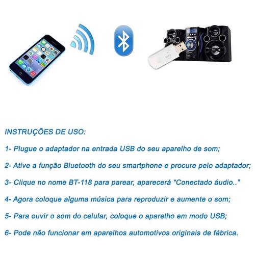 adaptador bluetooth usb carro player cd dvd pioneer lg sony