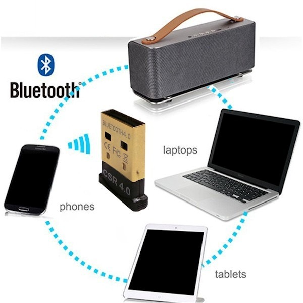 Adaptador bluetooth usb 4 0 audio pc parlantes celular for Bluetooth adaptador