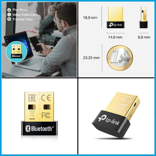 adaptador bluetooth usb nano tp-link ub400 notebook pc