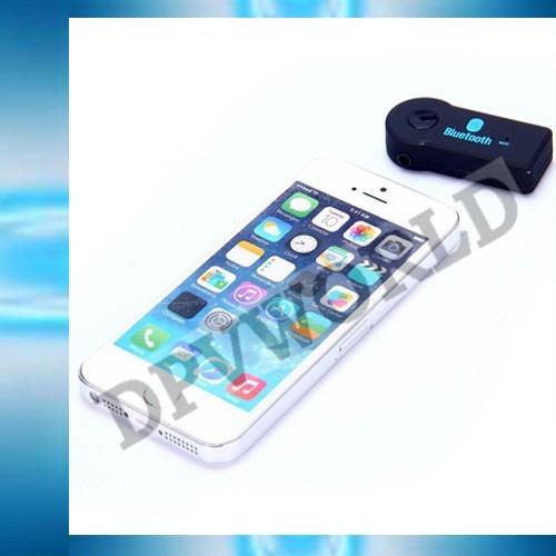 adaptador bluetooth vehiculo receptor musica llamadas 3.5mm