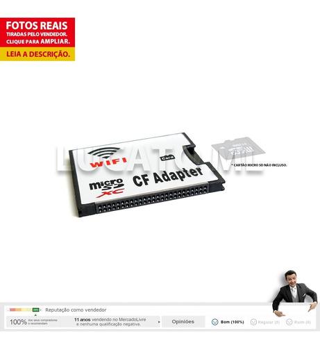 adaptador c/ wifi tf microsd p/ compact flash tipo 1 cf ncfg