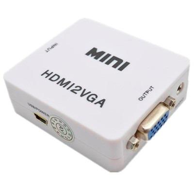 adaptador cable conversor hdmi a vga video audio full hd
