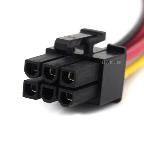 adaptador cable dual molex a 6 pin tarjetas video pcie pines