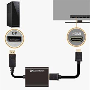 adaptador - cable matters display port a hdmi activo 4k 60hz