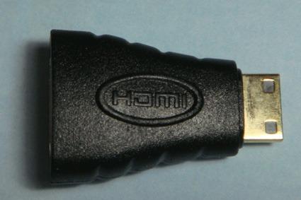 adaptador cable mini hdmi a hdmi oro 24 camara lcd led 1080p