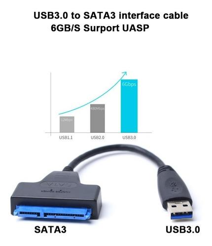 adaptador cable usb 3.0 a sata 3 hdd 2.5  22 pines | dfast