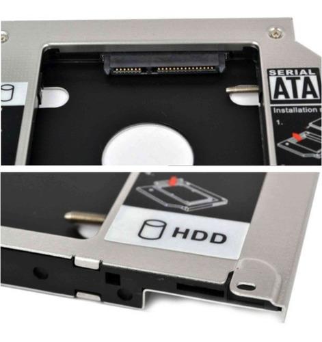 adaptador caddy case dvd para hd ou ssd notebook drive caddy