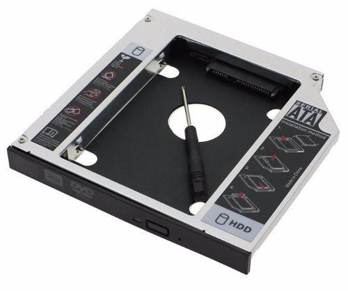 adaptador caddy dvd para segundo hd ssd 2.5 sata 9.5mm blac