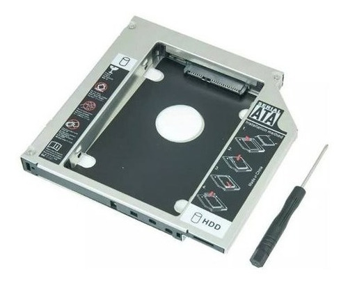 adaptador caddy hd ssd sata case gaveta dvd notebook 12.7mm