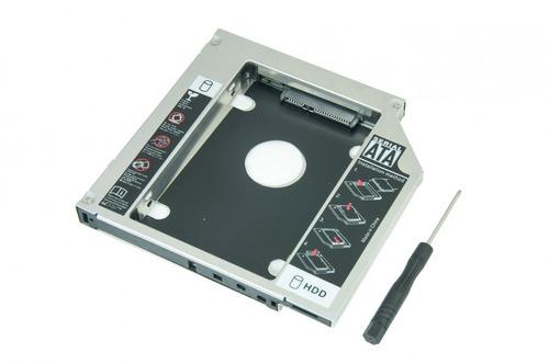 adaptador caddy para segundo hd ou ssd 9.5mm p/ notebook
