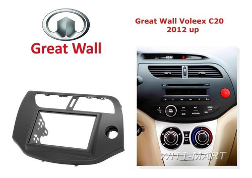 adaptador cambio radio great wall voleex c10  envio gratis