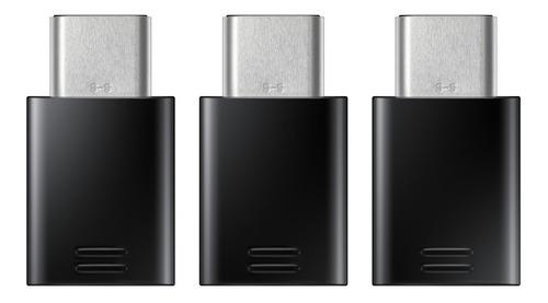 adaptador cargador samsung s10 s9 s8 original pack x3 tipo c
