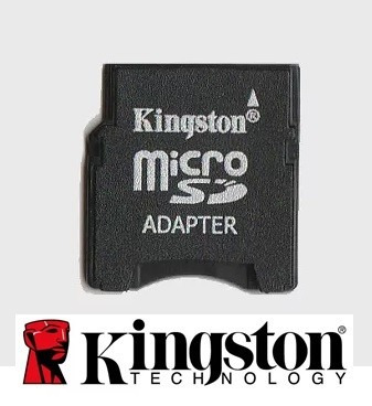 adaptador cartão mem. micro sd p/ mini sd original kingston