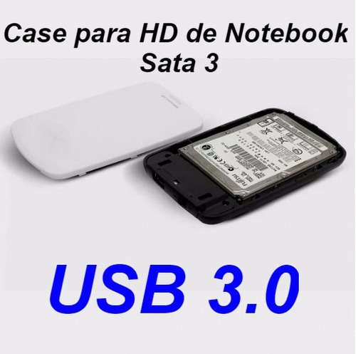 adaptador case p/ hd notebook slim 2.0/3.0 hd externo usb