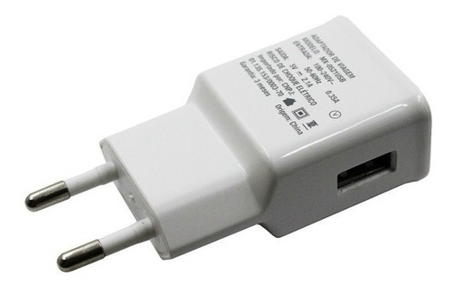 adaptador celular carregador 5v fonte usb bivolt branco mxt