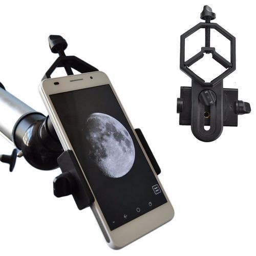 adaptador celular lente telescopio, soporte