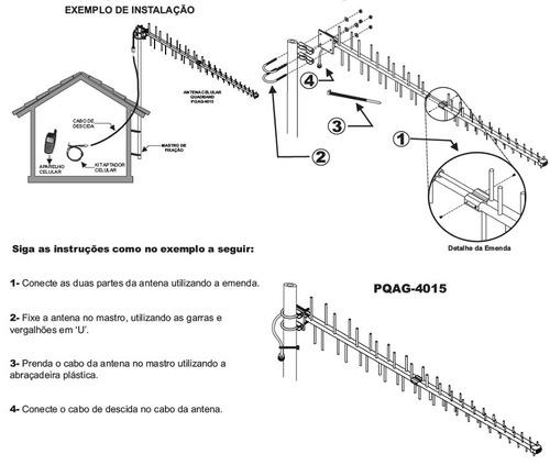 adaptador celular rural ca-45 com 1 metro. cf-395