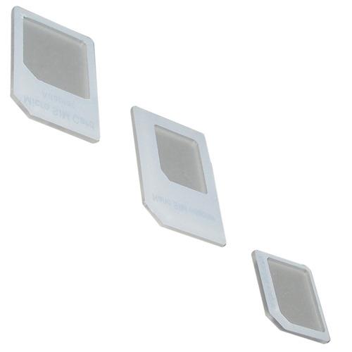 adaptador chip nano micro sim card ipad iphone galaxy s3 s4