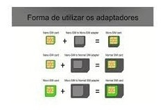 adaptador chip nano micro sim p/ iphone 4/4s/5