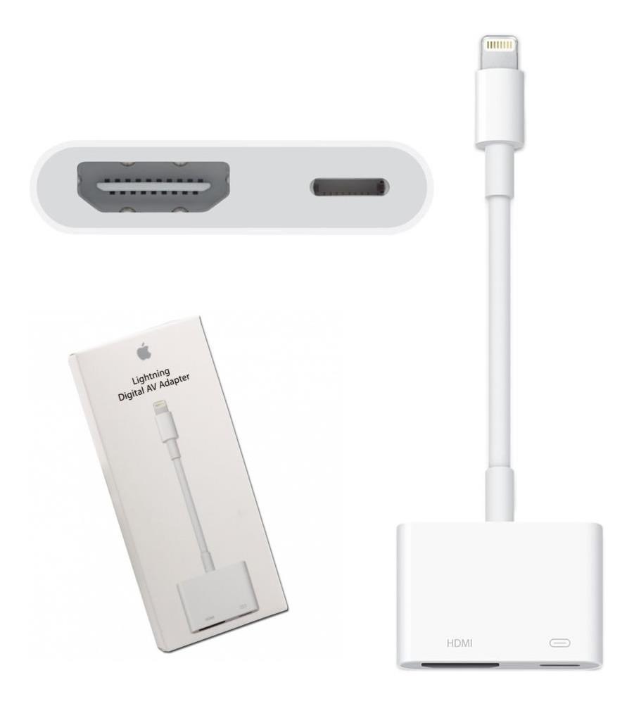 08ed34038d3 adaptador chromecast iphone 6 7 8 tv hdmi ipad ipod cabo. Carregando zoom.