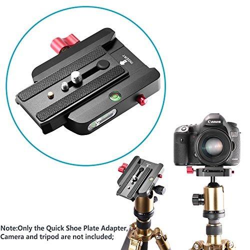 adaptador conectar placa zapato rápido neewer con tornillos