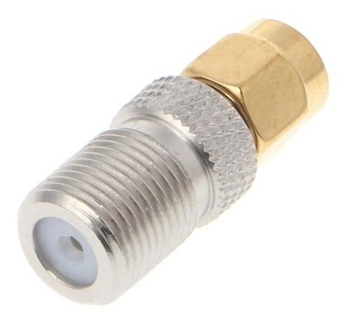adaptador conector sma macho para rf coaxial rg59 / rg6
