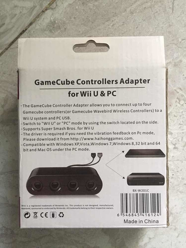 adaptador controles de gamecube para wii u y pc