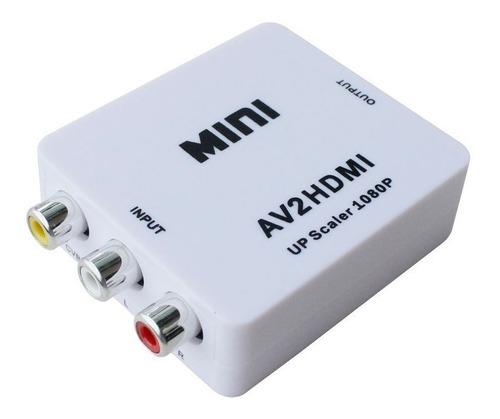 adaptador conversor av rca analogo a hdmi digital