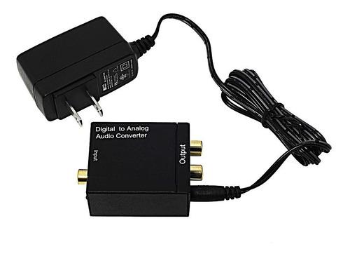 adaptador conversor de áudio digital para analógico estéreo