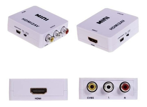 adaptador conversor de hdmi a video analógico av rca