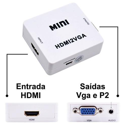 adaptador conversor hdmi a vga  + audio ramos mejia