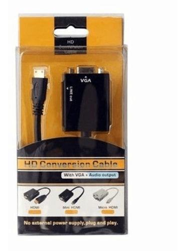 adaptador conversor hdmi a vga con audio 1080 full hd