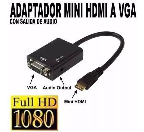 adaptador conversor hdmi a vga con audio