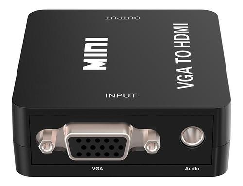 adaptador conversor  hembra vga salida hdmi para tv monitor