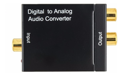 adaptador conversor kit óptico toslink coaxial digital x rca