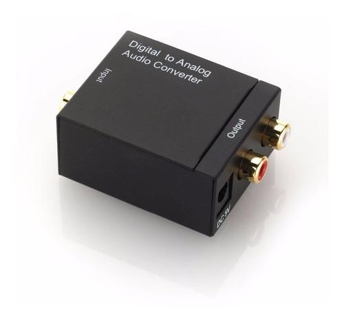 adaptador conversor óptico toslink e coaxial digital p/ rca