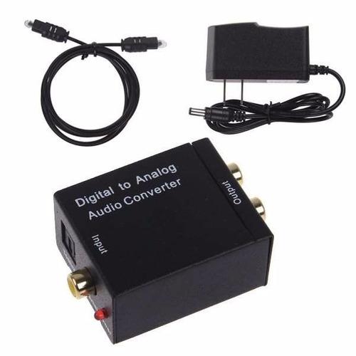 adaptador conversor otico toslink coaxial para rca + cabo